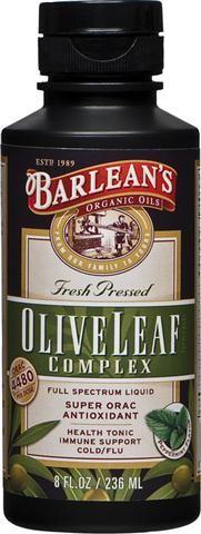 Olive Leaf Complex 8 oz) Barleans Organic Oils