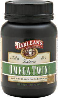 Lignan Omega Twin (120 softgels) Barleans Organic Oils