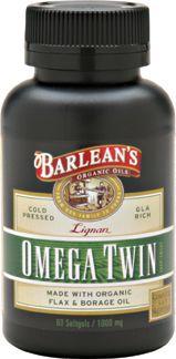 Lignan Omega Twin (60 softgels) Barleans Organic Oils
