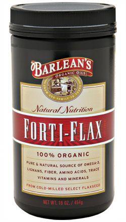 Forti-Flax Organic Ground Flax Seed (16 oz) Barleans Organic Oils