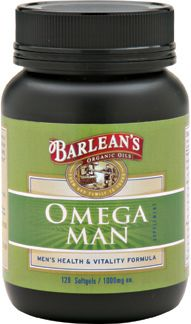 Omega Man (120 softgels) Barleans Organic Oils