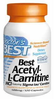 Best Acetyl L-Carnitine featuring Sigma Tau Carnitine (588 mg)(120 capsules) Doctor's Best