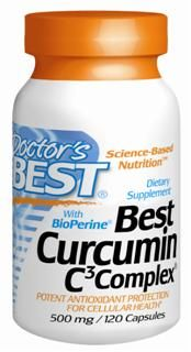 Best Curcumin with Bioperine (500 mg) (120 capsules) Doctor's Best