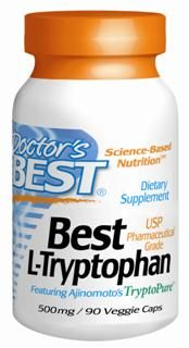 Best L-Tryptophan (500 mg) featuring TryptoPure 90 caps Doctor's Best