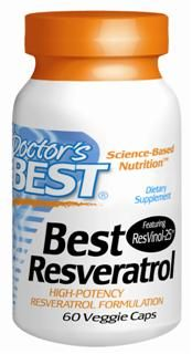 Best trans-Resveratrol featuring ResVinol-25 (100 mg) Doctor's Best