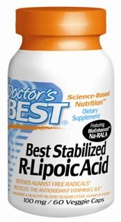 Best Stabilized R-Lipoic Acid featuring BioEnhanced Na-RALA (100 mg) Doctor's Best