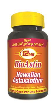 BioAstin Hawaiian Astaxanthin (12 mg - 50 Veggie softgels) Nutrex Hawaii