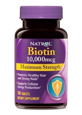 Biotin Maximum Strength (10000 mcg - 100 tablets) Natrol