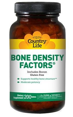 Bone Density Factors with Boron (200 tablets) Country Life