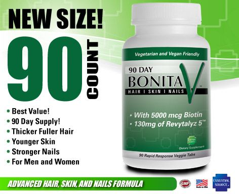 Bonita V Advanced Formula for Hair, Skin and Nails (90 tabs) Essential Source
