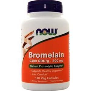Bromelain (120 Vcaps 2400Gdu/500 mg) NOW Foods
