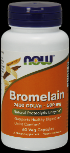 Bromelain (60 Vcaps 500 mg) NOW Foods
