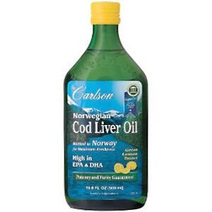 Norwegian Cod Liver Oil Lemon Flavor (500 ml) Carlson Labs