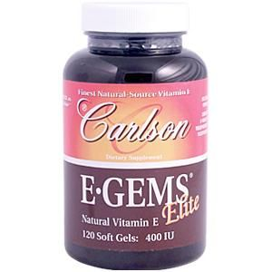 E Gems Elite (400 IU - 120 soft gels) Carlson Labs