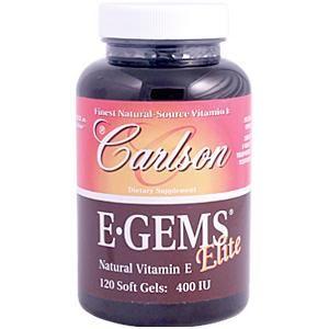 E Gems Elite (400 IU - 120 soft gels) Carlson Labs