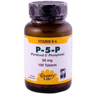 P-5-P Pyridoxal Phosphate P5P (50 mg/ 100 tablets) Country Life