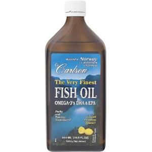 Very Finest Fish Oil Omega-3 Lemon Flavor (500 ml) Carlson Labs