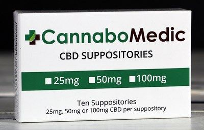 CannaboMedic Suppositories (25mg CBD)  (10 pcs) purO3