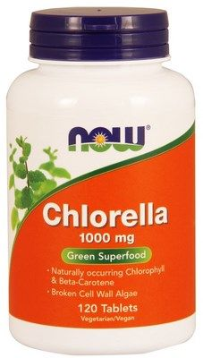 Chlorella 1000 mg (120 tabs) NOW Foods