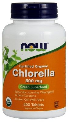 Chlorella (500mg 200 tablets) NOW Foods
