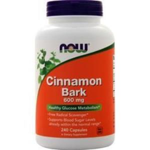 Cinnamon Bark (240 Caps 600 mg) NOW Foods