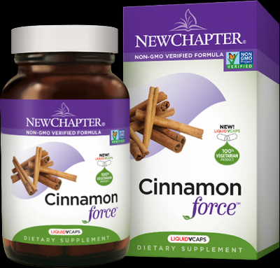 Cinnamon Force (60 liquid vcaps)* New Chapter Nutrition