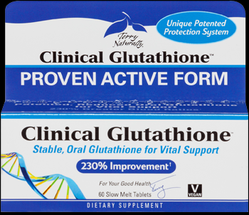 Clinical Glutathione (60 low-melt tablets) Terry Naturally