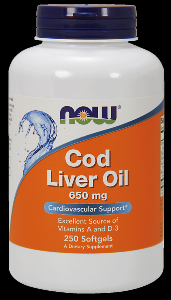 Cod Liver Oil (250 softgels) NOW Foods