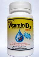 Daily D Vitamin D3 5000 IU (100 Vcaps) Coral LLC. | Coral Calcium