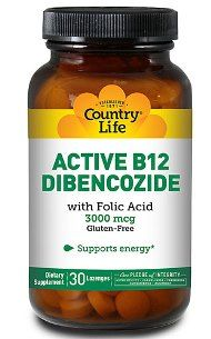 Active B-12 Dibencozide (30 lozenge) Country Life
