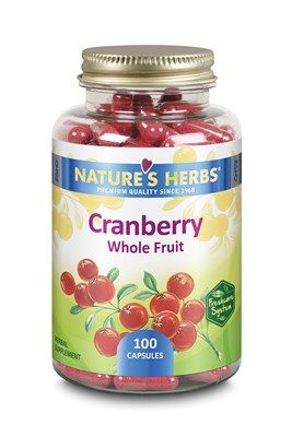 Cranberry Whole Fruit (100 Caps) Nature's Herbs