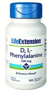D,L-Phenylalanine (500 mg 100 vcapsules)* Life Extension