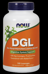DGL 400 mg (100 Lozenges) NOW Foods