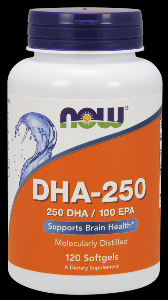 DHA (120 softgels 250 mg) NOW Foods
