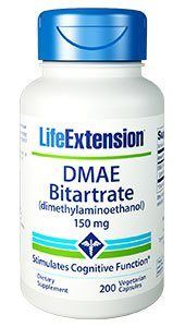 DMAE Bitartrate (dimethylaminoethanol) (150 mg 200 vcaps)* Life Extension