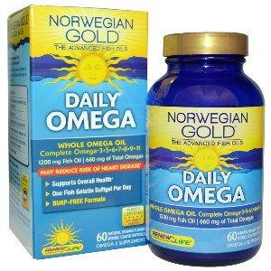 Norwegian Gold Daily Omega (60 fish gels)* Renew Life