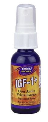 IGF-1 Liposomal Spray (1 oz) Deer Antler Velvet Extract NOW Foods