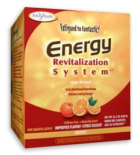 Fatigued to Fantastic! Energy Revitalization System with B Complex (Citrus Delight 30-day, 24.7 oz) Enzymatic Therapy