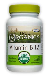True Organics Vitamin B12 (30 tabs) Enzymatic Therapy