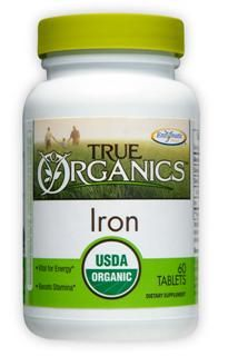 True Organics Iron (60 tabs) Enzymatic Therapy