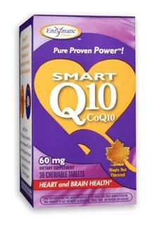 SMART Q10 - CoQ10 60 mg (Maple 30 chew tabs) Enzymatic Therapy