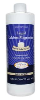 Liquid Calcium Magnesium (Vanilla Shake Flavor 16 oz) Enzymatic Therapy