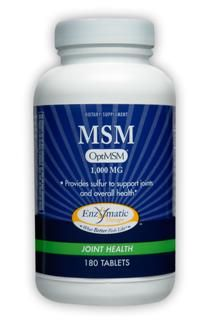 MSM (1,000 mg 180 tabs) Enzymatic Therapy