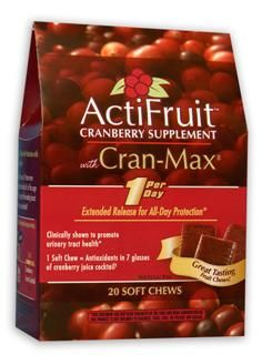 ActiFruit with Cran-Max (20 soft chews) Enzymatic Therapy