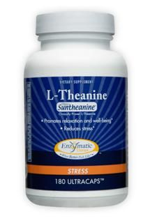 L-Theanine (100mg - 180  veg caps) Enzymatic Therapy