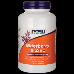 Elderberry-Zinc Lozenges (90 lozenges) NOW Foods
