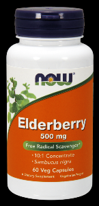 Elderberry Extract (60 Vcaps 500 mg) NOW Foods