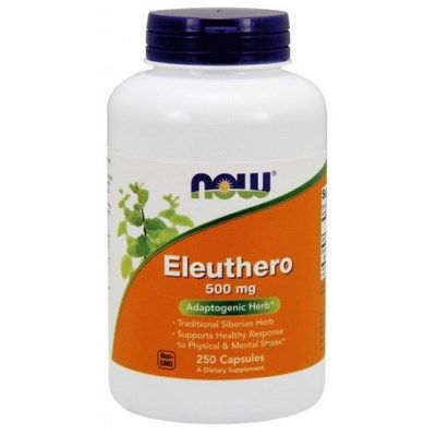 Eleuthero (500 mg 250 capsules) NOW Foods