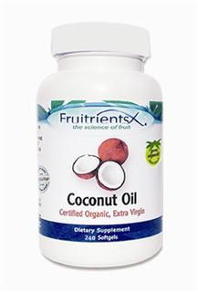 Coconut Oil Softgels (240 softgels)* Fruitrients X
