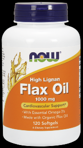 Organic Flax Oil (120 softgels 1000mg) NOW Foods